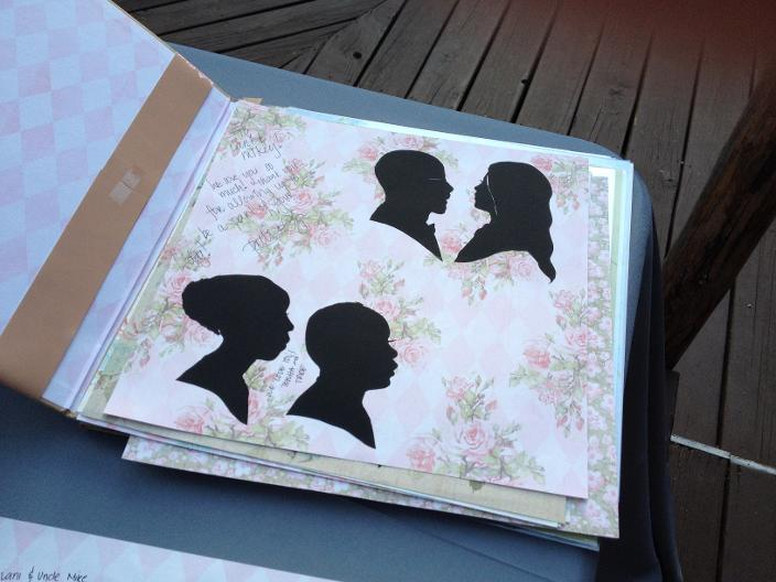 Wedding Book in Progress at an Event